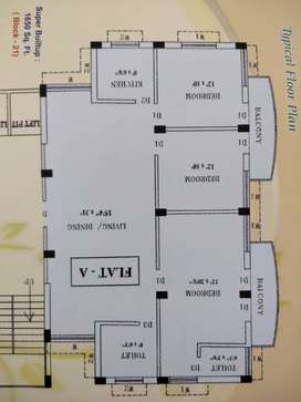 1650sqft 3bhk, spacious area, at affordable price