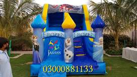 Jumping Castle and Slide for kids Popcorn, Candy floss