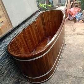 Bathub Kayu Jati Handmade P150cm
