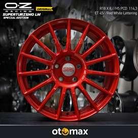 Velg Mobil OZ Original Superturismo LM Ring 18 Red White Lettering