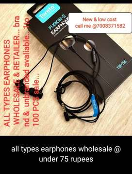 all types earphones wholesale with retails original  accessories