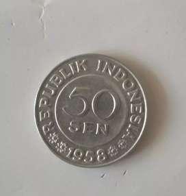 Uang logam kuno 50sen
