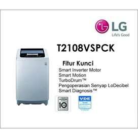 Mesin cuci top loading LG 8kg smart inverter