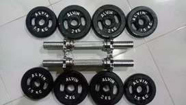 Barbel / dumble set 10kg x 2stik. FREE ONGKIR