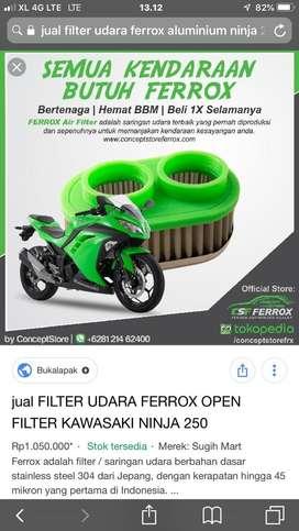 Filter udara racing motor 2 silinder 250cc