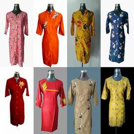 printed and Embroidery Kurti Sell in Lot , Only wholsale