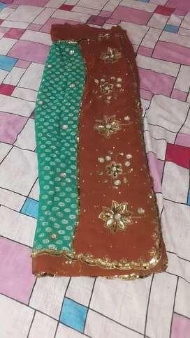 Brown Silk Saree Without Blouse