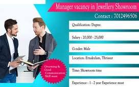 Manager vacancy in Showroom