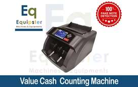 Value Counting Machine - Cash Counter with 100% Fake Note Detection t