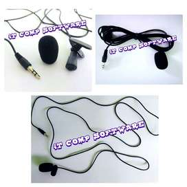 Clip on mic 3.5mm hands free mini lapel no label