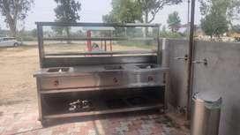 Heavy duty steel table for fast food