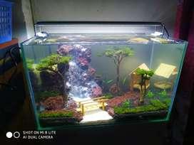 aquascape aquarium air terjun