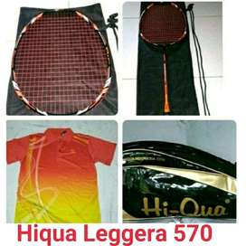 New Raket hiqua Leggera 570 light super ringan bonus lengkap by ahadin
