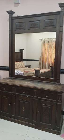 Two double bed set with side tables and dressing table available