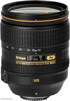 Nikon 24-120 AF-S VR II lens 3 months old