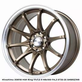 Velg mobil racing ring17 HSRwheel dobel pcd 8×100-114,3 cicilan 0%
