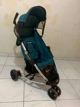 Preloved stroller babyelle maxi blue