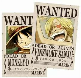 Poster Wanted One Piece