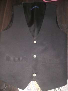 Black And Gray Button-up Jacket