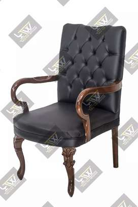 Chair wooden visitor office victorion