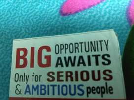 Big opportunity to change your life.