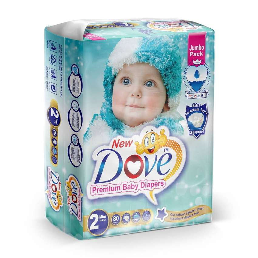 New Dove Baby Diapers Small Medium Large 0