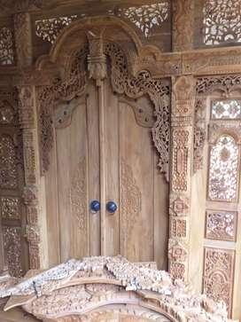 Kusen pintu ukir gebyok gapura jendela utama kayu jati full tanpa dp