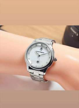 jam tangan hush puppies full putih rantai stanlies tgl aktif+box