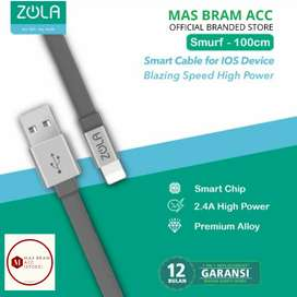 [GARANSI 12 BULAN] Kabel Cas Data ZOLA Lightning iphone Quick Charge