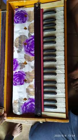 Harmonium 2 reed bass and male with copler left side