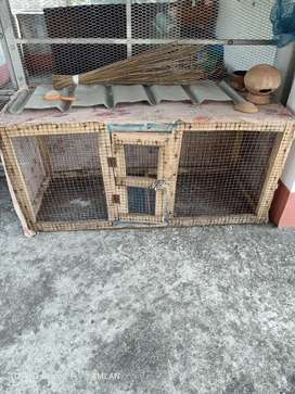 Wood cage for bird