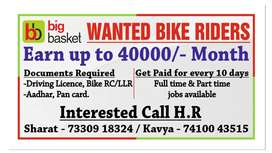URGENT REQUIREMENT FOR DELIVERY EXECUTIVES