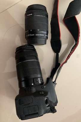 Canon 700 + lensa 55-250 canon (harga nego)