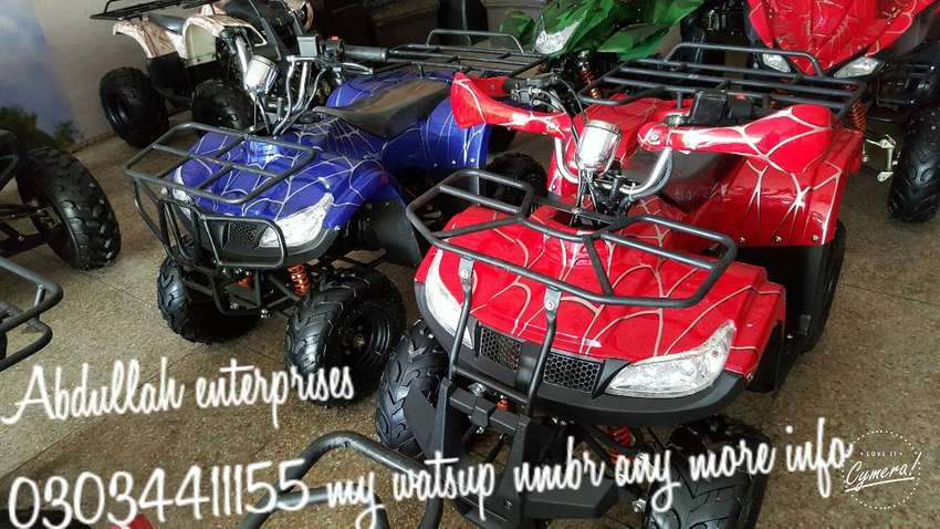 Simple rim 125 cc Dubai Imported ATV BIKE for sell deliver pak 0