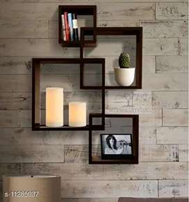 Trendy Wall Shelves  Material: Wooden Pack: Pack of 1