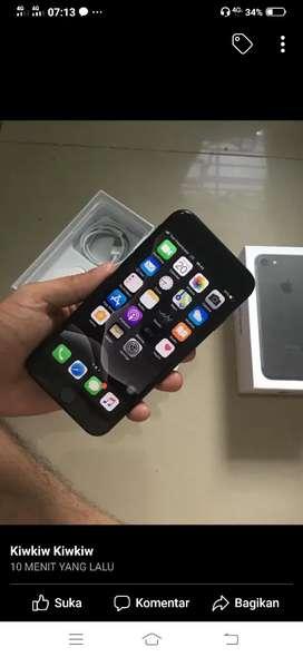 Iphone 7 128GB Blackmatte Mulus Lengkap