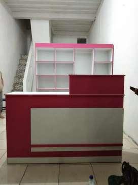 Jual lemari londri plus meja kasir berkualitas kuat aman