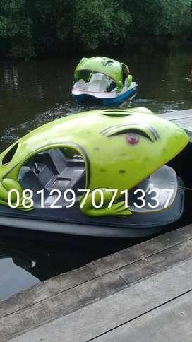 sepeda air kodok hijau, sepeda air wahana permainan air