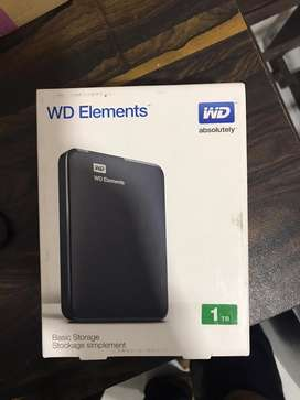WD hard disk 1TB for sale box piece sealed pack