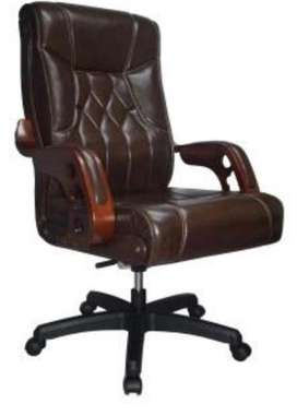 Executive Bistre Luxury Wooden Arms Office Chair