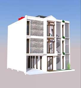 Rumah kost 13 kamar proses bangun dekat PGRI