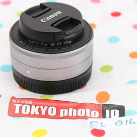 Lensa Canon EFM 22mm F2 Lensa fix mirorless