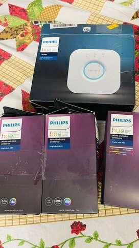 Philips Hue (Apple Homekit Compatible) with bridge and all (MRP 18000)