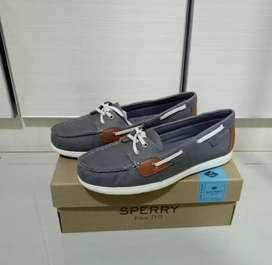 Sepatu  Sperry Wanita Shoresider Salt Washed Baru