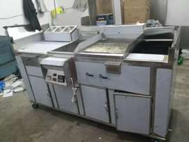 d fryer  hot plate  grill  working  space