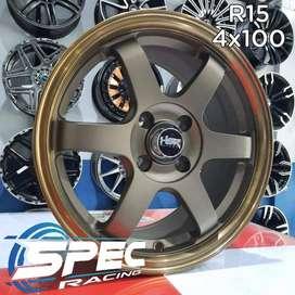 Jual Velg Mobil Honda Brio Racing R15 HSR Di Toko Velg Mobil Medan