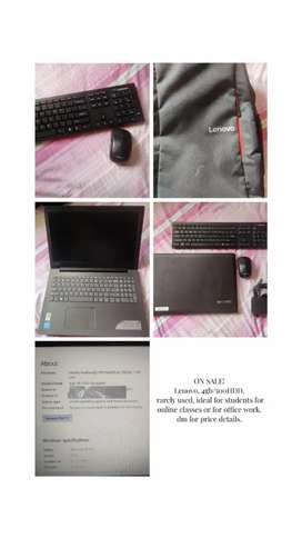Lenovo laptop, well suited for online classes.