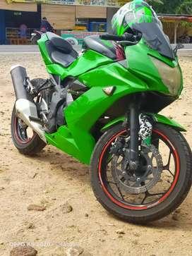Jual cepat butuh dana ninja mono 250cc BPKB/STNK pajak off