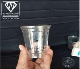 Plastik Cup 14 Oz PET POLI + Tutup Flat Poli Diameter 9,3 CM