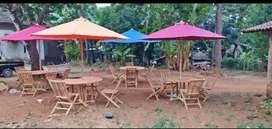 Meja taman jati,meja teras,meja bundar,meja kolam,meja payung